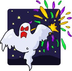 fireworks scare off evil spirits